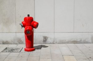 fire, hydrant, water